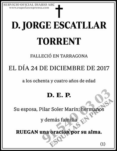 Jorge Escatllar Torrent